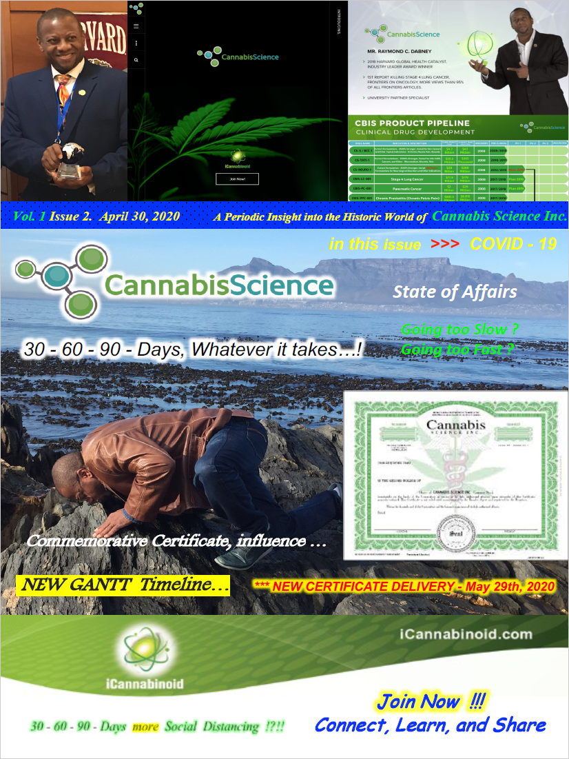 Cannabis Science State of Affairs Vol. 1 Issue 2, April 30th 2020