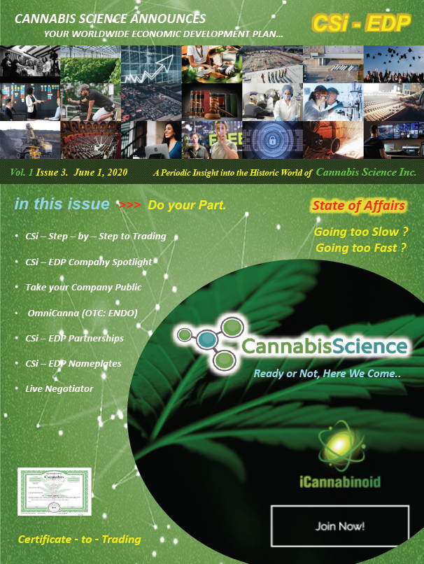 Cannabis Science State of Affairs Vol. 1 Issue 3, June 1 2020